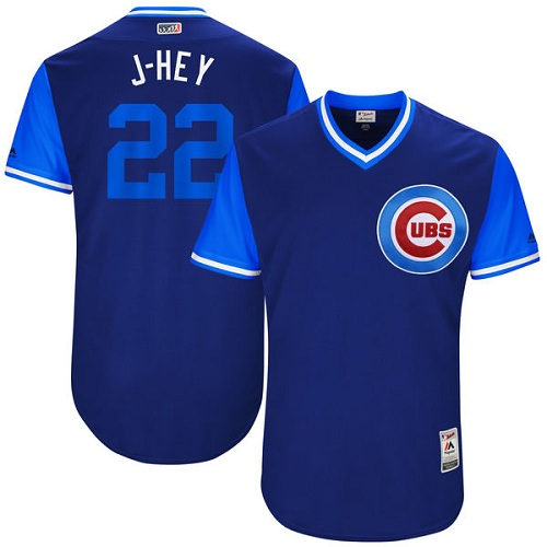 Men's Majestic Chicago Cubs #22 Jason Heyward