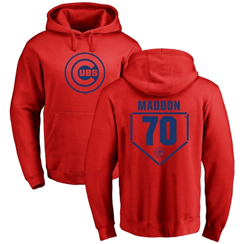 MLB Nike Chicago Cubs #70 Joe Maddon Red RBI Pullover Hoodie