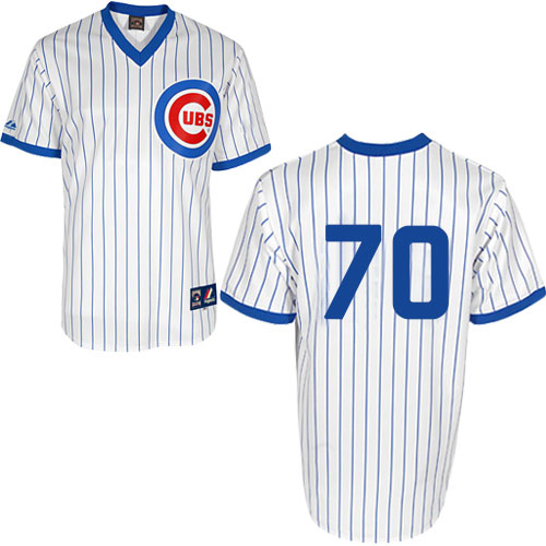 Men's Majestic Chicago Cubs #70 Joe Maddon Authentic White 1988 Turn Back The Clock Cool Base MLB Jersey