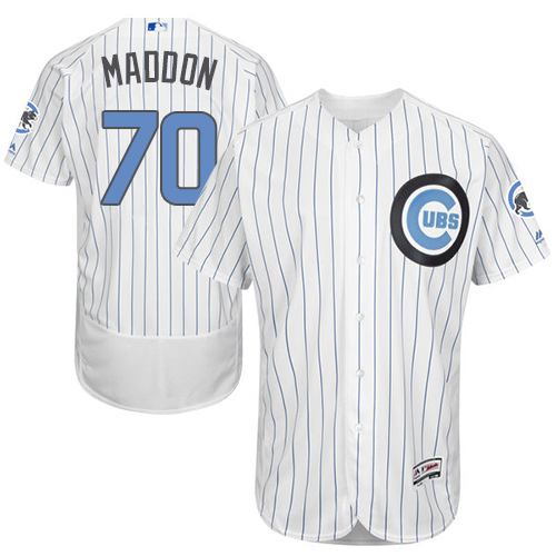 Men's Majestic Chicago Cubs #70 Joe Maddon Authentic White 2016 Father's Day Fashion Flex Base MLB Jersey