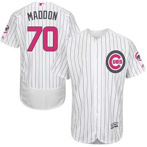 Men's Majestic Chicago Cubs #70 Joe Maddon Authentic White 2016 Mother's Day Fashion Flex Base MLB Jersey