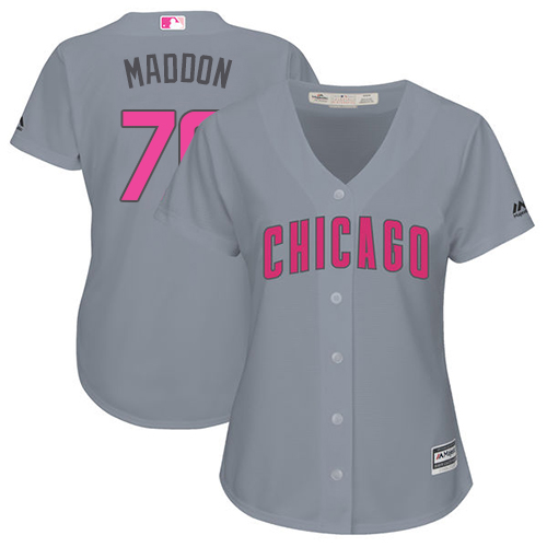 Women's Majestic Chicago Cubs #70 Joe Maddon Authentic Grey Mother's Day Cool Base MLB Jersey