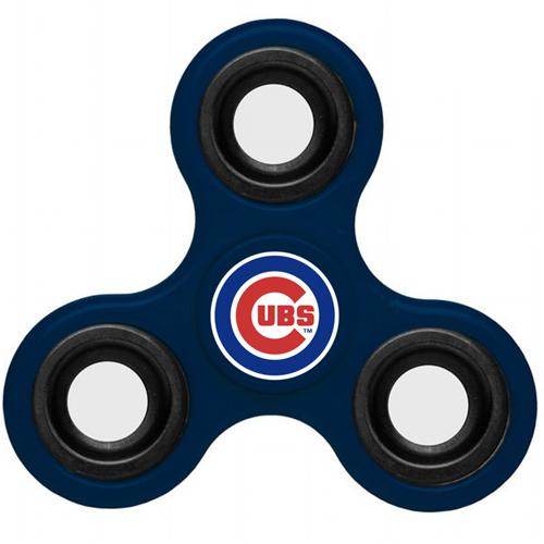 MLB Chicago Cubs 3 Way Fidget Spinner B44 - Navy