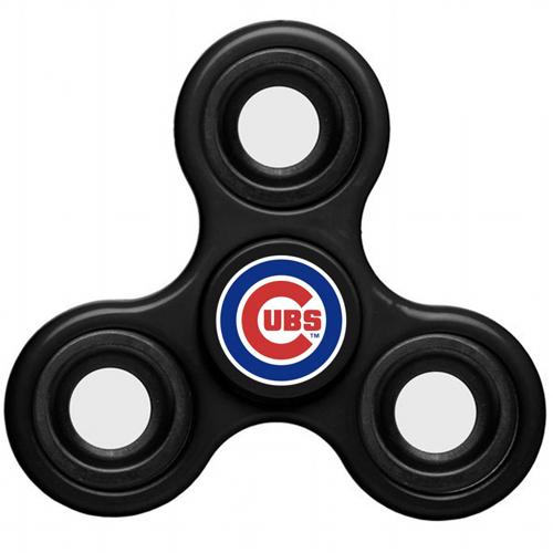 MLB Chicago Cubs 3 Way Fidget Spinner C44 - Black