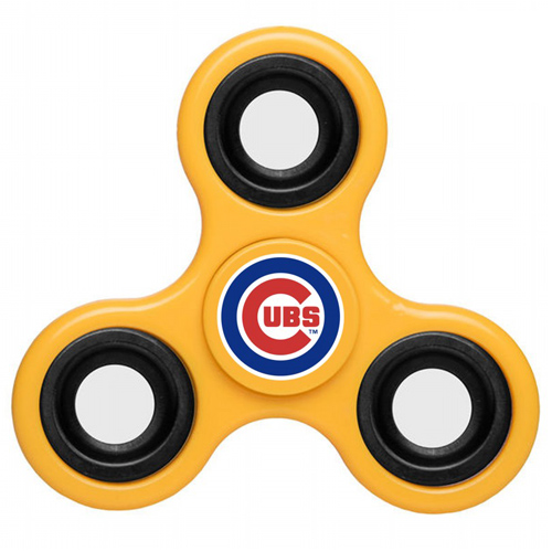 MLB Chicago Cubs 3 Way Fidget Spinner D44 - Yellow