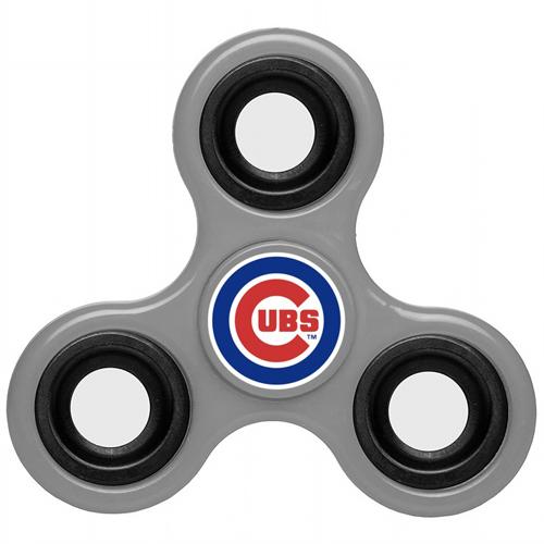 MLB Chicago Cubs 3 Way Fidget Spinner G44 - Gray