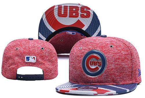 MLB Chicago Cubs Stitched Snapback Hats 025