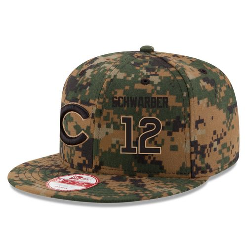 MLB Men's Chicago Cubs #12 Kyle Schwarber New Era Digital Camo Memorial Day 9FIFTY Snapback Adjustable Hat