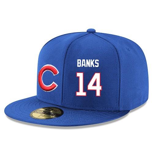 MLB Men's Chicago Cubs #14 Ernie Banks Stitched Snapback Adjustable Player Hat - Royal Blue/White