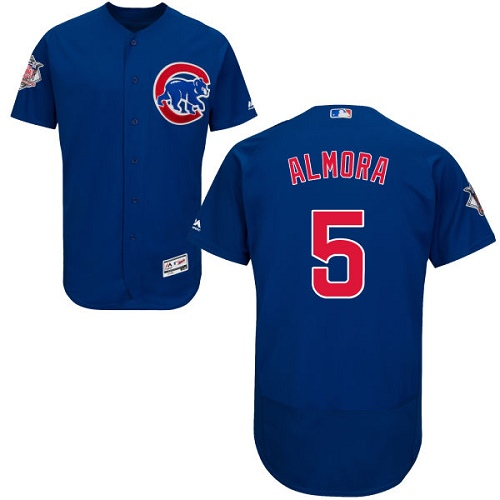 Men's Majestic Chicago Cubs #5 Albert Almora Jr Royal Blue Alternate Flexbase Authentic Collection MLB Jersey