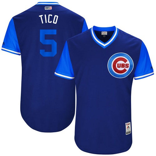 Men's Majestic Chicago Cubs #5 Albert Almora Jr
