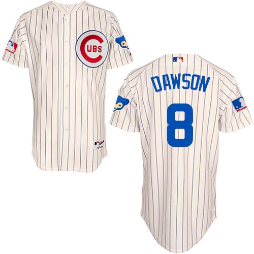 Men's Majestic Chicago Cubs #8 Andre Dawson Authentic Cream 1969 Turn Back The Clock MLB Jersey