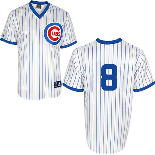 Men's Majestic Chicago Cubs #8 Andre Dawson Authentic White 1988 Turn Back The Clock Cool Base MLB Jersey