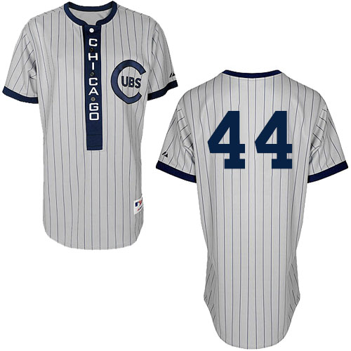 Men's Majestic Chicago Cubs #44 Anthony Rizzo Authentic White 1909 Turn Back The Clock MLB Jersey