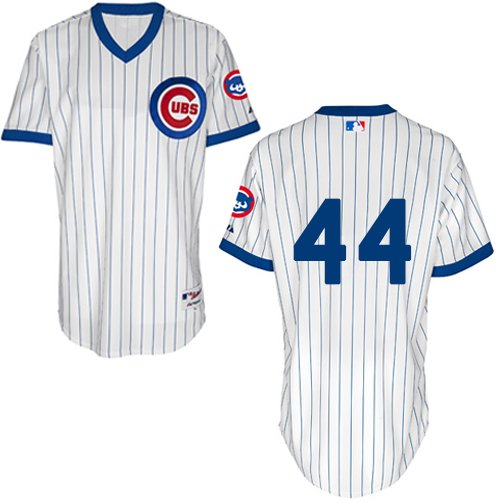 Men's Majestic Chicago Cubs #44 Anthony Rizzo Authentic White 1988 Turn Back The Clock MLB Jersey