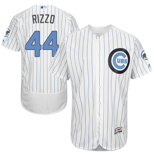 Men's Majestic Chicago Cubs #44 Anthony Rizzo Authentic White 2016 Father's Day Fashion Flex Base MLB Jersey