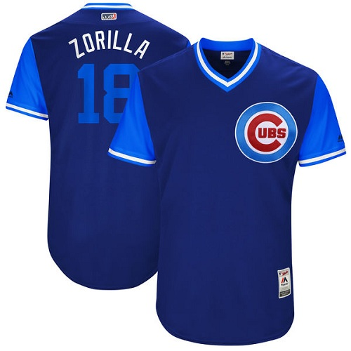 3f057556b62 Men s Majestic Chicago Cubs  18 Ben Zobrist
