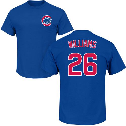 MLB Nike Chicago Cubs #26 Billy Williams Royal Blue Name & Number T-Shirt