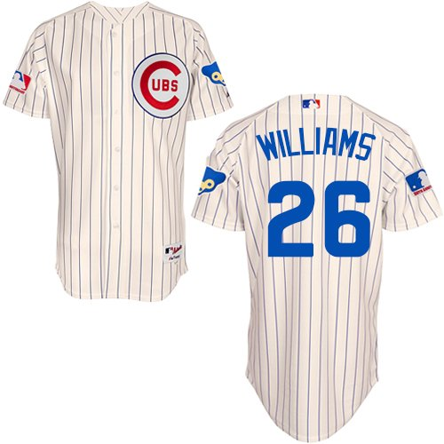Men's Majestic Chicago Cubs #26 Billy Williams Replica Cream 1969 Turn Back The Clock MLB Jersey