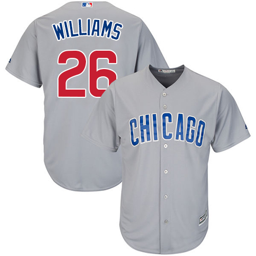 Men's Majestic Chicago Cubs #26 Billy Williams Replica Grey Road Cool Base MLB Jersey