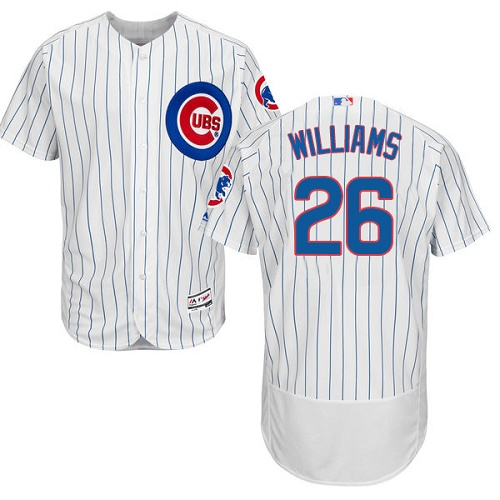 Men's Majestic Chicago Cubs #26 Billy Williams White Home Flex Base Authentic Collection MLB Jersey