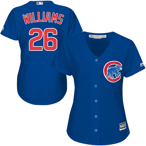 Women's Majestic Chicago Cubs #26 Billy Williams Authentic Royal Blue Alternate MLB Jersey