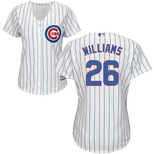 Women's Majestic Chicago Cubs #26 Billy Williams Authentic White Home Cool Base MLB Jersey