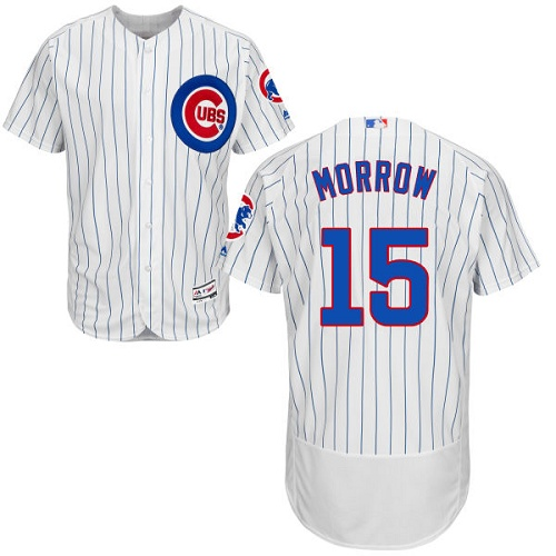 Men's Majestic Chicago Cubs #15 Brandon Morrow White Home Flex Base Authentic Collection MLB Jersey