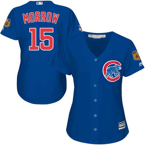 Women's Majestic Chicago Cubs #15 Brandon Morrow Authentic Royal Blue Alternate MLB Jersey