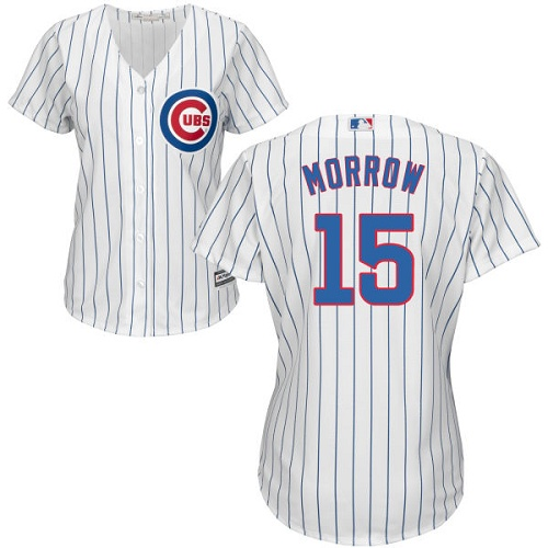 Women's Majestic Chicago Cubs #15 Brandon Morrow Authentic White Home Cool Base MLB Jersey