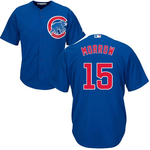 Youth Majestic Chicago Cubs #15 Brandon Morrow Authentic Royal Blue Alternate Cool Base MLB Jersey