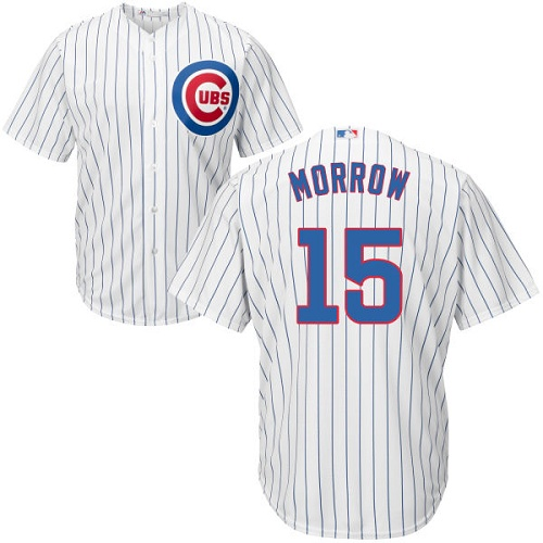 Youth Majestic Chicago Cubs #15 Brandon Morrow Authentic White Home Cool Base MLB Jersey