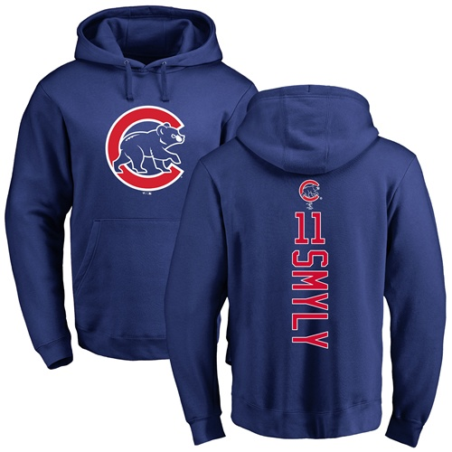 MLB Nike Chicago Cubs #11 Drew Smyly Royal Blue Backer Pullover Hoodie