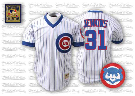 Men's Mitchell and Ness Chicago Cubs #31 Fergie Jenkins Authentic White Throwback MLB Jersey