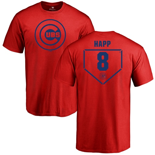 MLB Nike Chicago Cubs #8 Ian Happ Red RBI T-Shirt