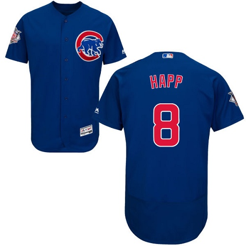Men's Majestic Chicago Cubs #8 Ian Happ Royal Blue Alternate Flexbase Authentic Collection MLB Jersey