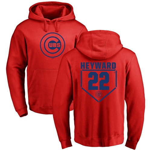 MLB Nike Chicago Cubs #22 Jason Heyward Red RBI Pullover Hoodie