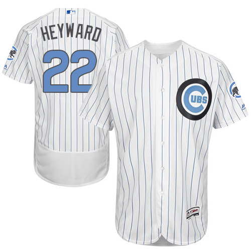 Men's Majestic Chicago Cubs #22 Jason Heyward Authentic White 2016 Father's Day Fashion Flex Base MLB Jersey