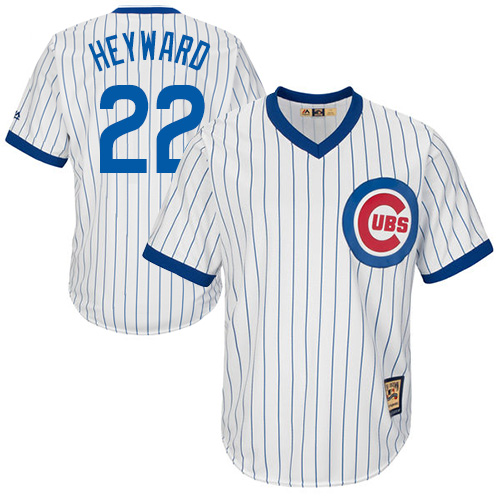 Men's Majestic Chicago Cubs #22 Jason Heyward Authentic White Home Cooperstown MLB Jersey