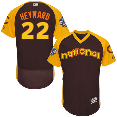 Men's Majestic Chicago Cubs #22 Jason Heyward Brown 2016 All-Star National League BP Authentic Collection Flex Base MLB Jersey