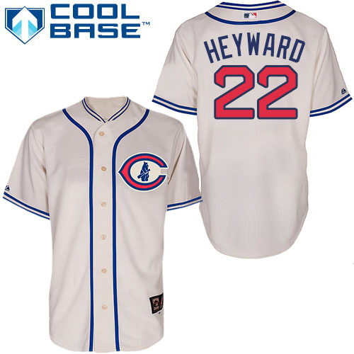 Men's Majestic Chicago Cubs #22 Jason Heyward Replica Cream 1929 Turn Back The Clock MLB Jersey