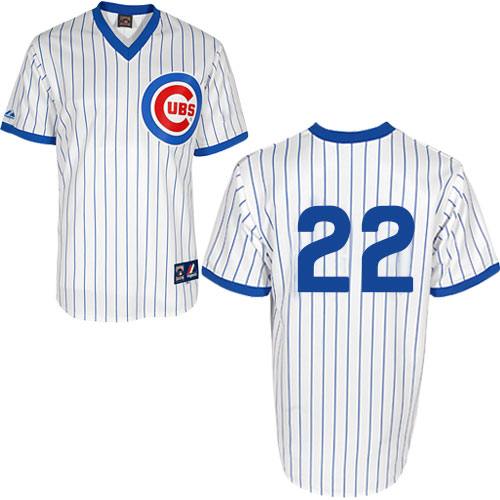 Men's Majestic Chicago Cubs #22 Jason Heyward Replica White 1988 Turn Back The Clock Cool Base MLB Jersey