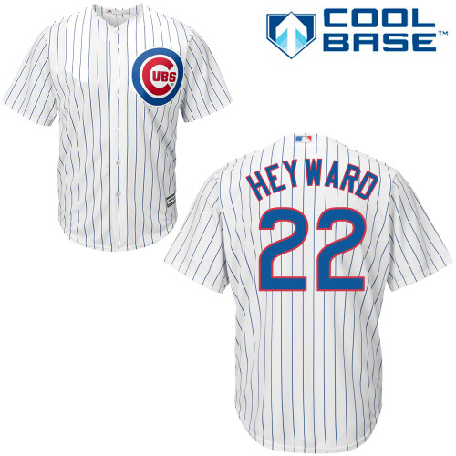Men's Majestic Chicago Cubs #22 Jason Heyward Replica White Home Cool Base MLB Jersey
