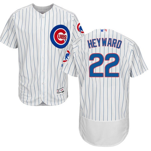 Men's Majestic Chicago Cubs #22 Jason Heyward White Home Flex Base Authentic Collection MLB Jersey