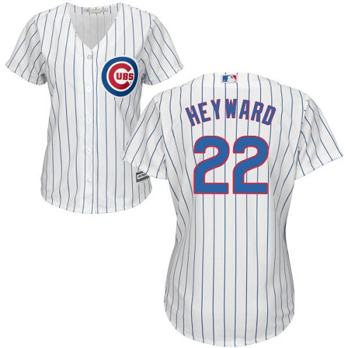 Women's Majestic Chicago Cubs #22 Jason Heyward Authentic White Home Cool Base MLB Jersey