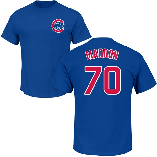 MLB Nike Chicago Cubs #70 Joe Maddon Royal Blue Name & Number T-Shirt