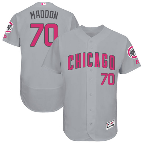 Men's Majestic Chicago Cubs #70 Joe Maddon Grey Mother's Day Flexbase Authentic Collection MLB Jersey
