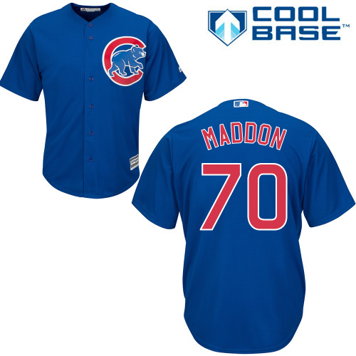 Men's Majestic Chicago Cubs #70 Joe Maddon Replica Royal Blue Alternate Cool Base MLB Jersey