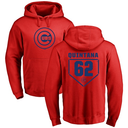 MLB Nike Chicago Cubs #62 Jose Quintana Red RBI Pullover Hoodie