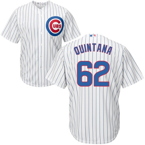 Men's Majestic Chicago Cubs #62 Jose Quintana Replica White Home Cool Base MLB Jersey